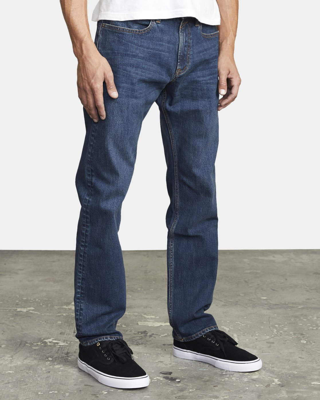 6 week-end STRAIGHT FIT DENIM Blue M3043RWK RVCA