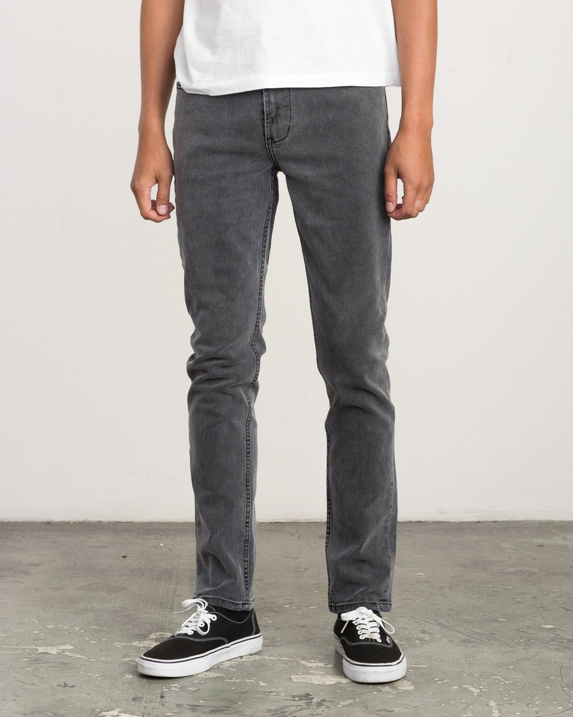 1 Hexed Slim Fit Denim Jeans Grey M305QRHD RVCA