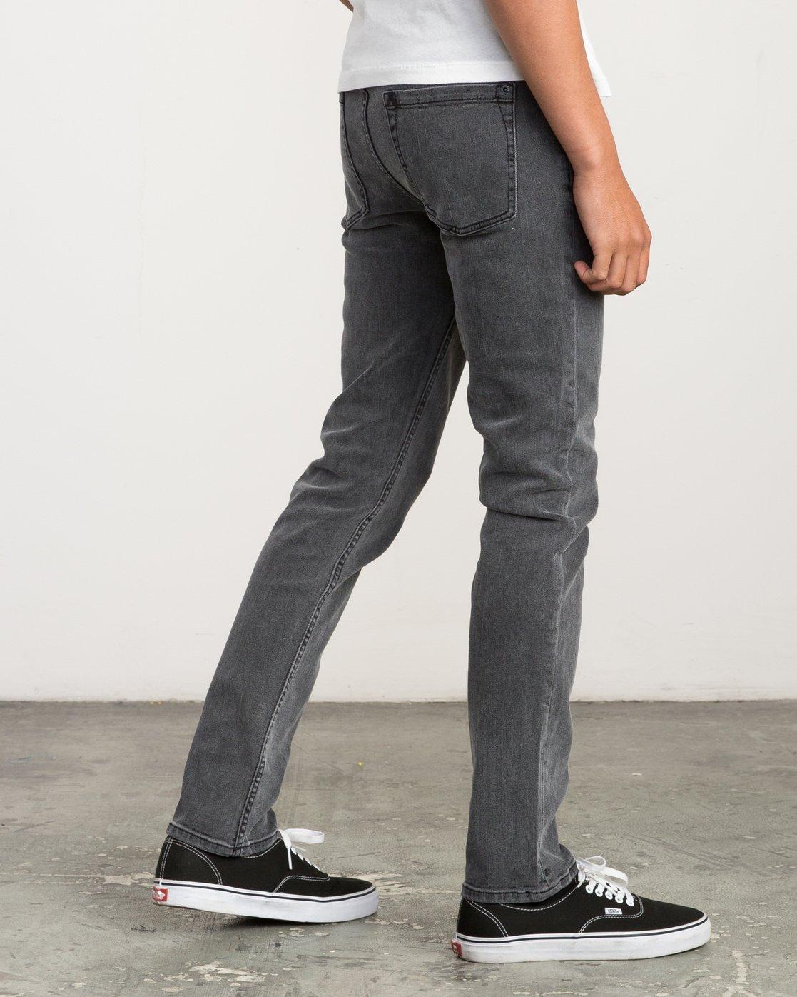 5 Hexed Slim Fit Denim Jeans Grey M305QRHD RVCA