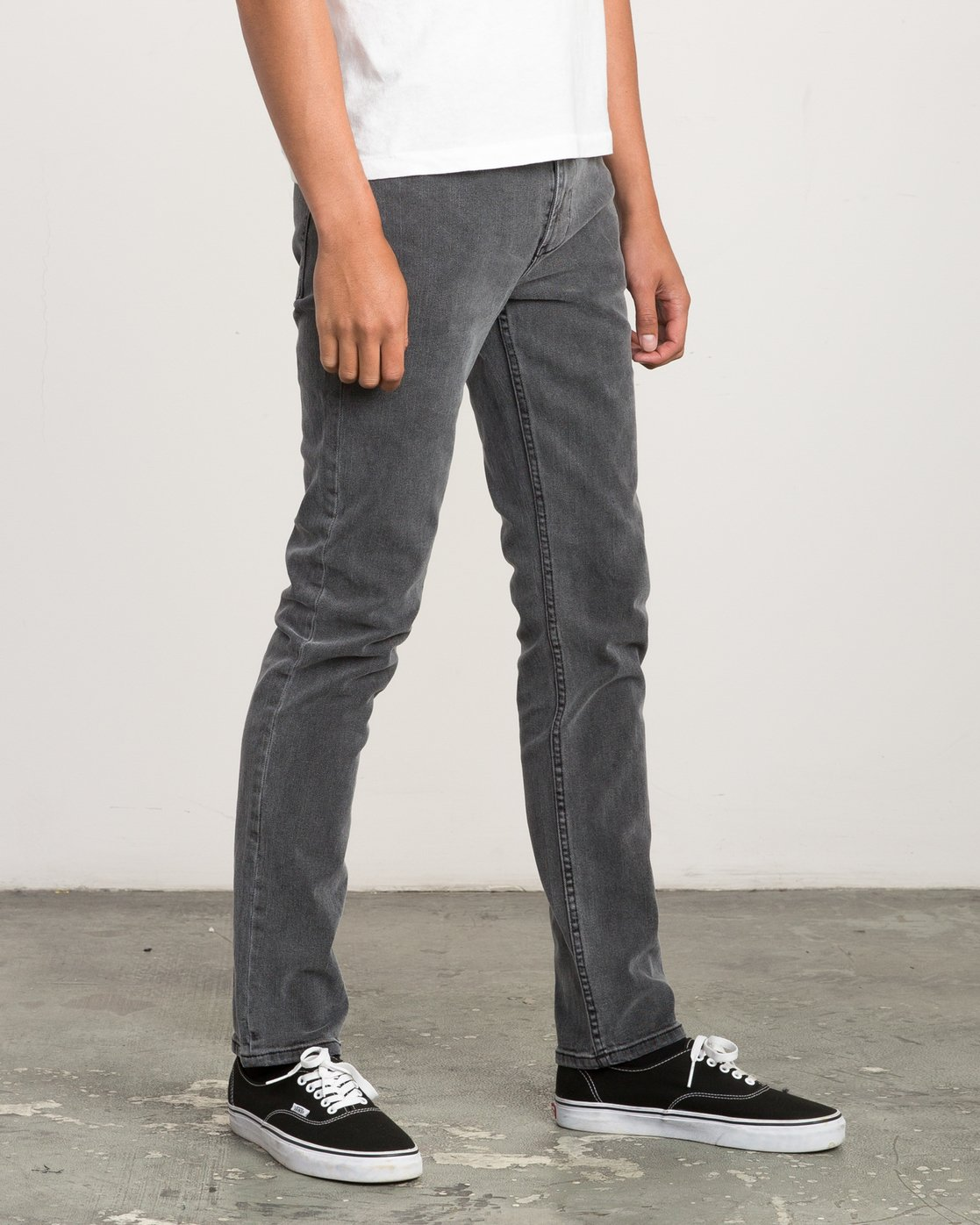 5 Hexed Slim Fit Denim Jeans Grey M305QRHD RVCA