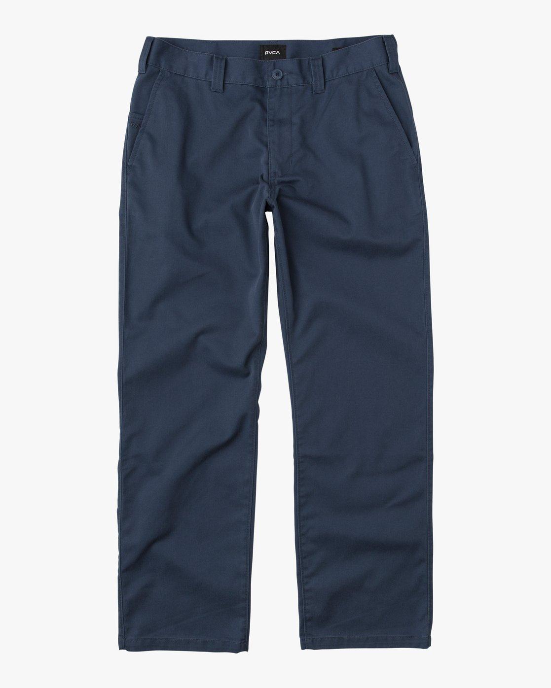 6 Big RVCA Chino Pant Blue M308QRBR RVCA