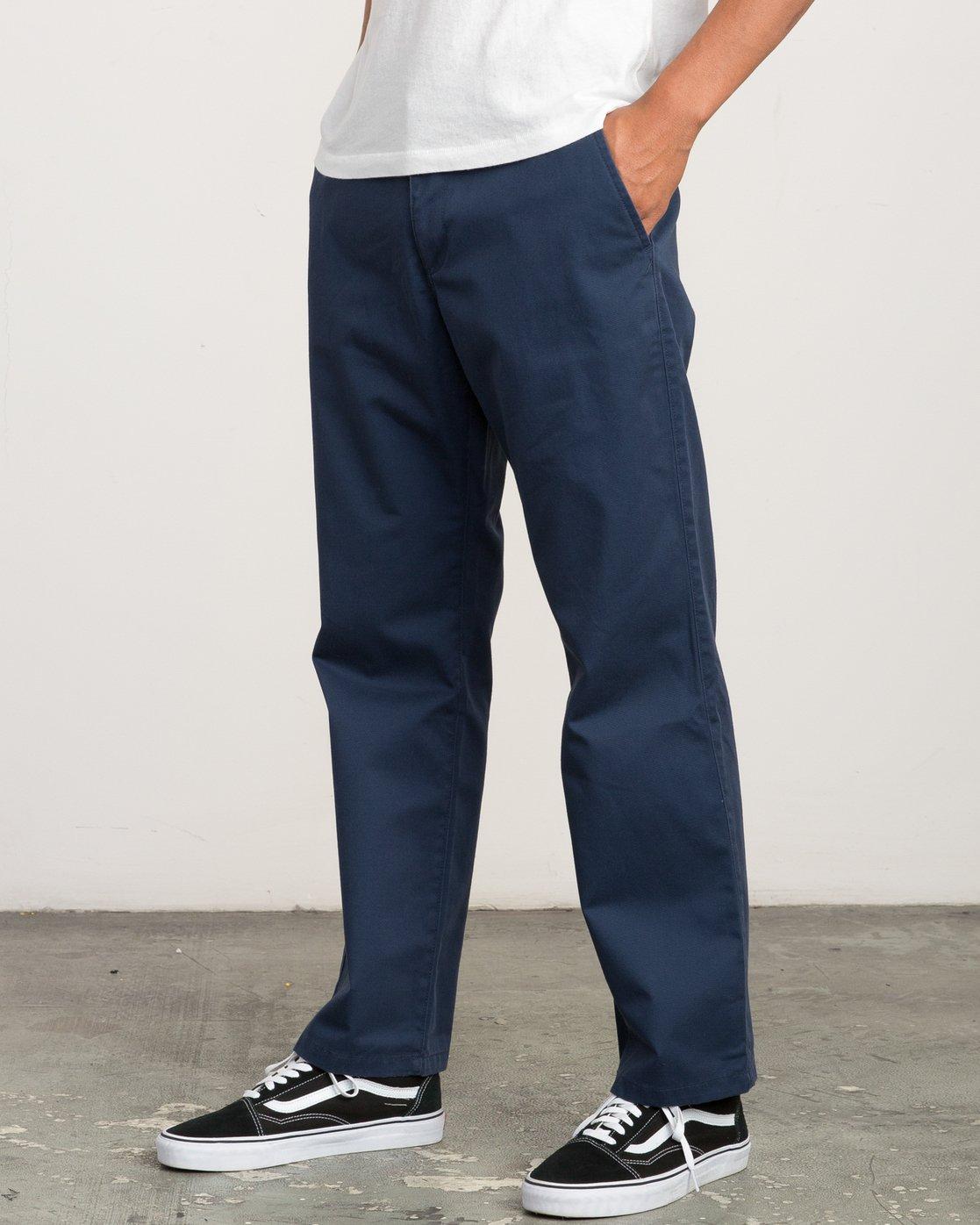 1 Big RVCA Chino Pant Blue M308QRBR RVCA