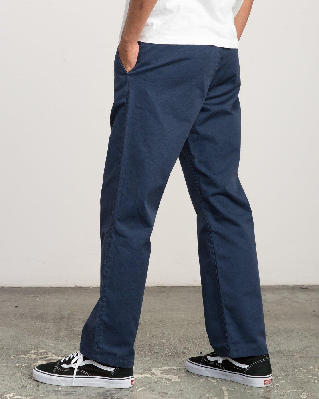 2 Big RVCA Chino Pant Blue M308QRBR RVCA