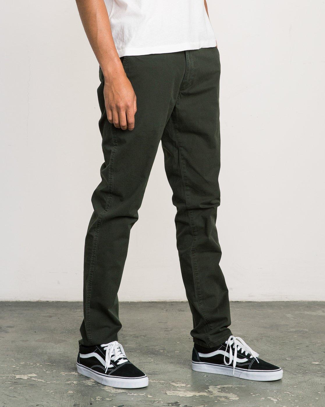 4 Daggers Slim-Straight Chino Pant Camo M309QRDC RVCA