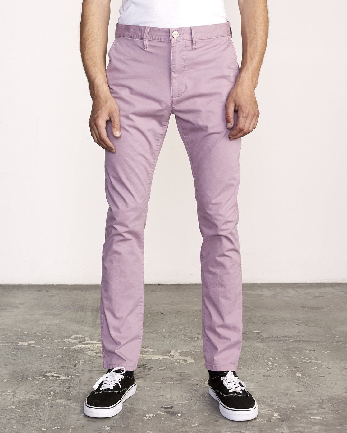 0 DAGGERS SLIM-STRAIGHT CHINO PANTS  M309QRDC RVCA