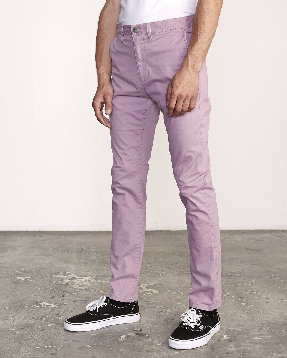 2 DAGGERS SLIM-STRAIGHT CHINO PANTS  M309QRDC RVCA