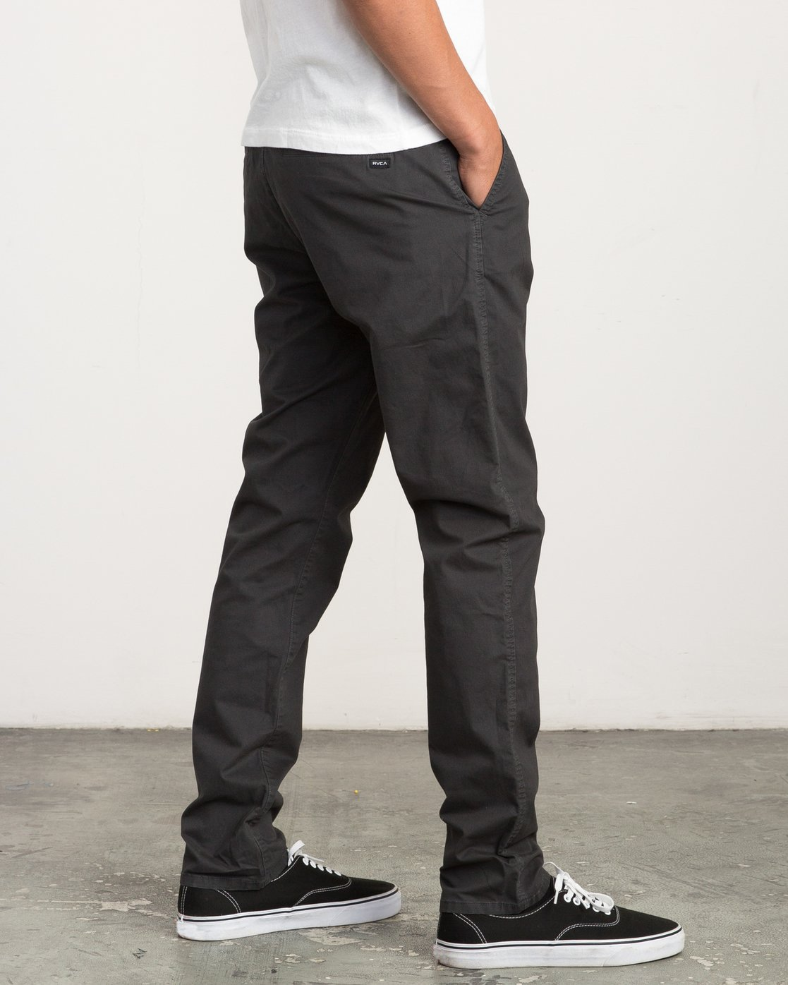 5 Daggers Slim-Straight Chino Pants Black M309QRDC RVCA
