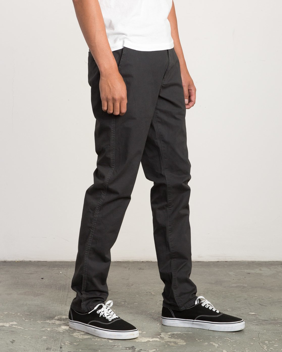 6 Daggers Slim-Straight Chino Pants Black M309QRDC RVCA