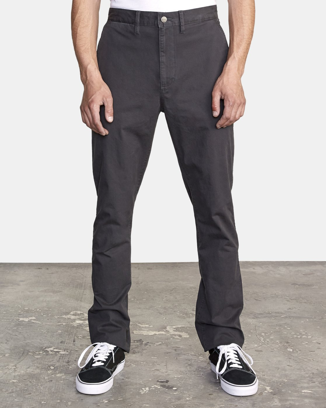 0 DAGGERS SLIM-STRAIGHT CHINO PANTS Orange M309QRDC RVCA