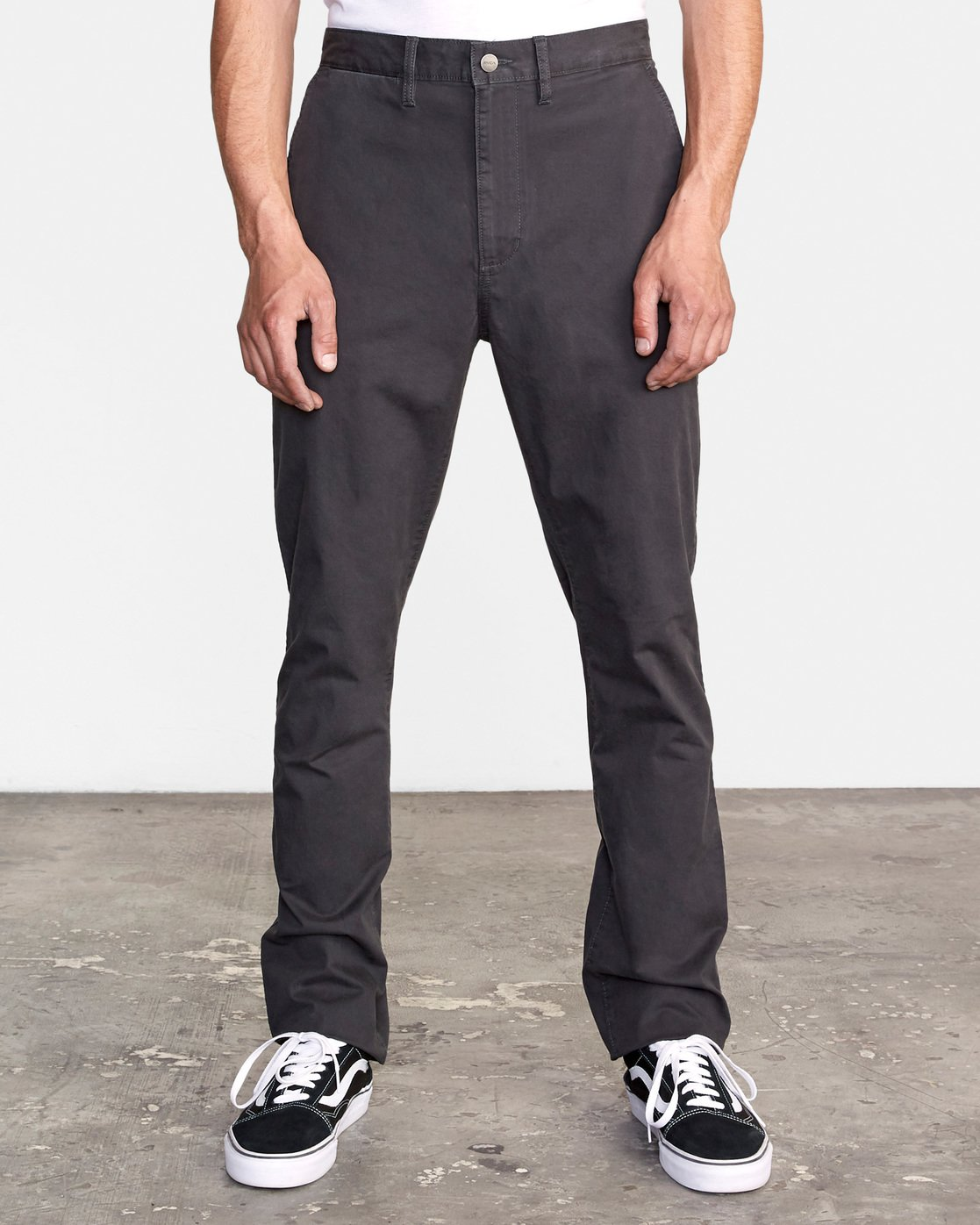 1 DAGGERS SLIM-STRAIGHT CHINO PANTS Orange M309QRDC RVCA