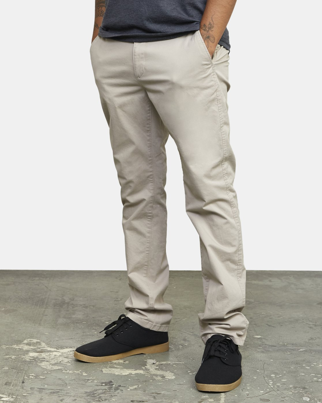 1 DAGGERS SLIM-STRAIGHT CHINO PANTS Purple M309QRDC RVCA