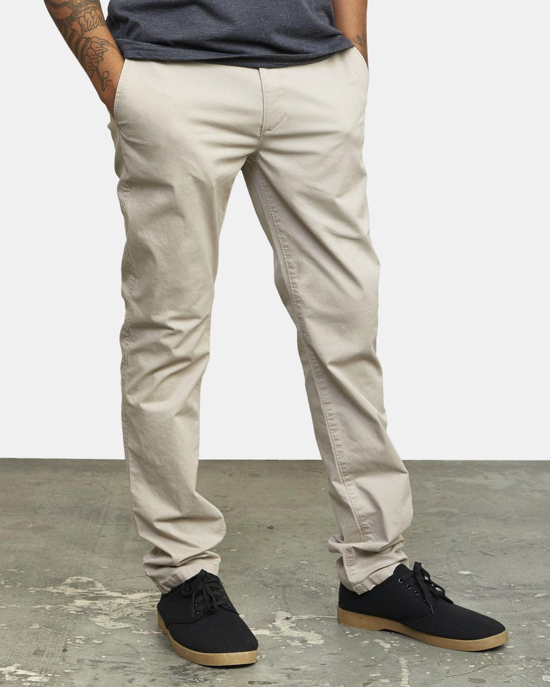 2 DAGGERS SLIM-STRAIGHT CHINO PANTS Purple M309QRDC RVCA