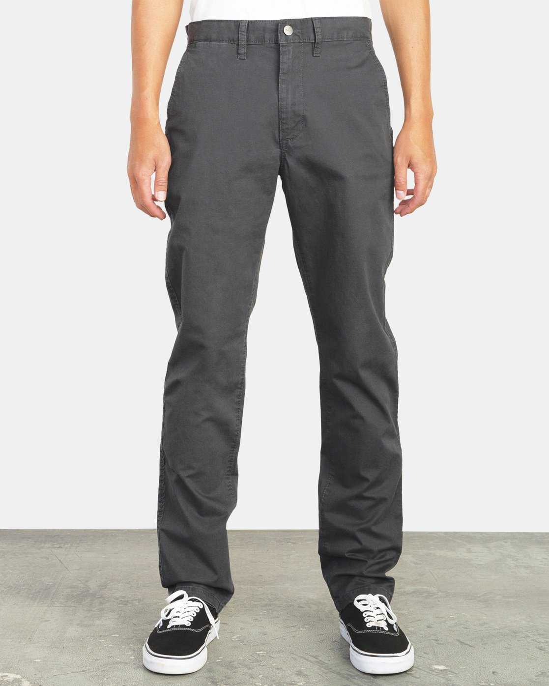 0 Daggers Slim-Straight Chino Pants Grey M309QRDC RVCA