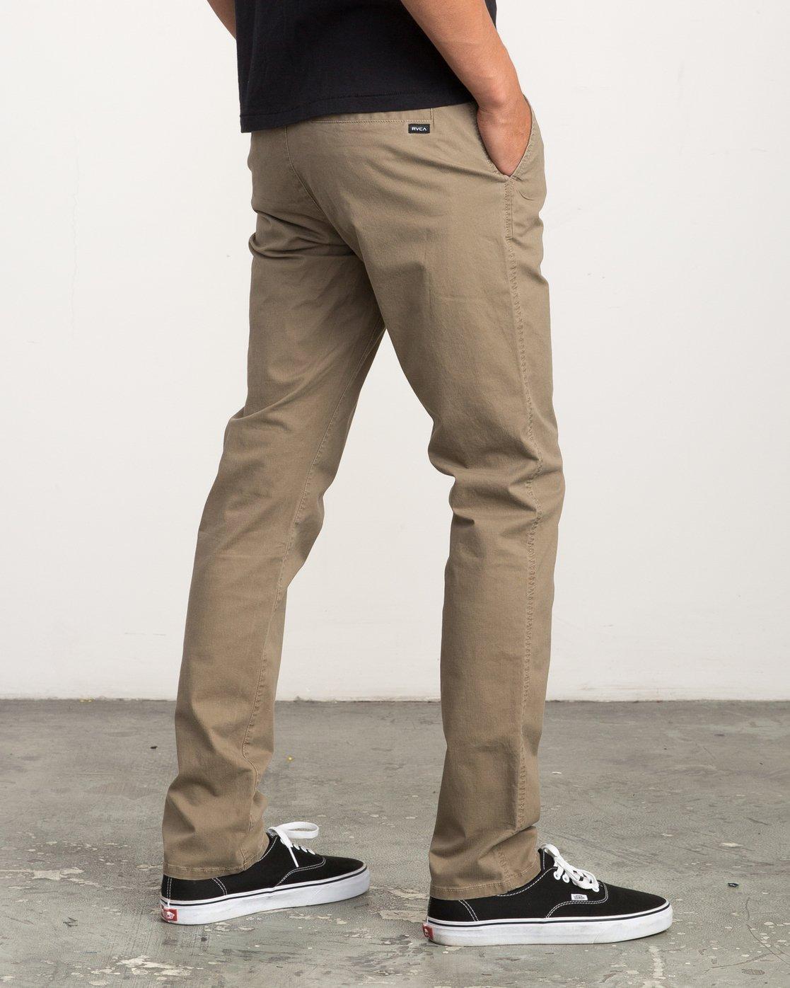 4 Daggers Slim-Straight Chino Pant White M309QRDC RVCA