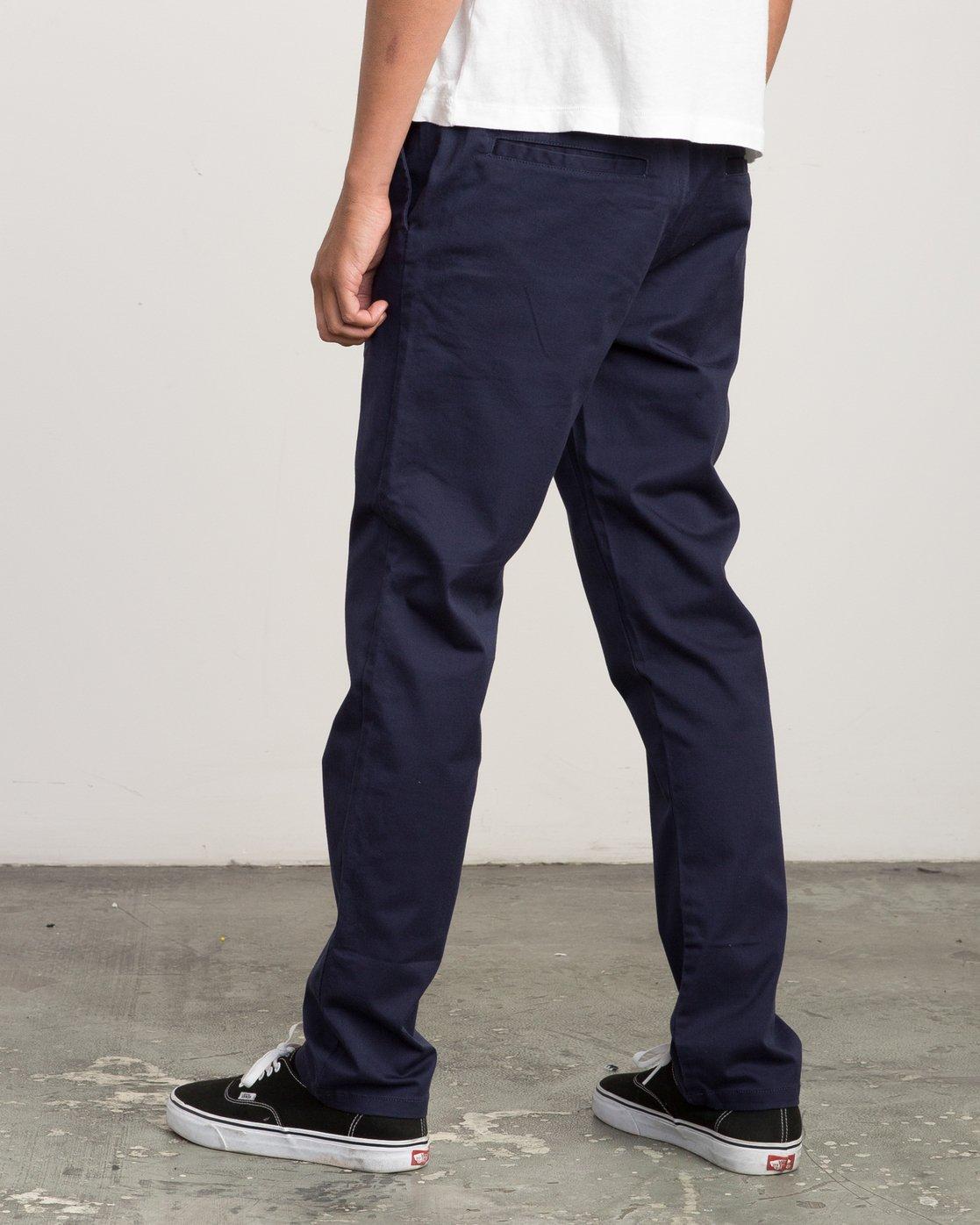 2 A.T. Dayshift Elastic Pant II Blue M310QRDS RVCA