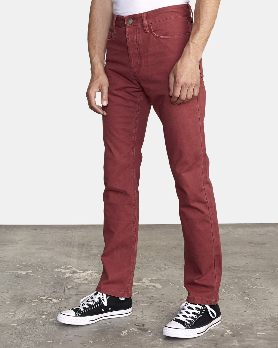 1 week-end 5-Pocket straight fit Pant Red M310VRWP RVCA