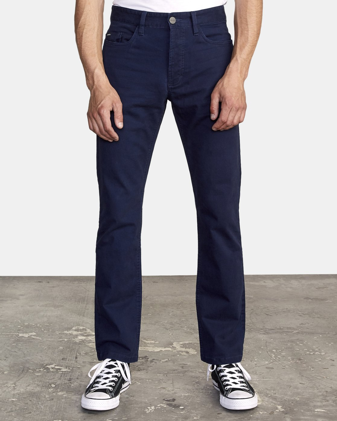 2 week-end 5-Pocket straight fit Pant Blue M310VRWP RVCA