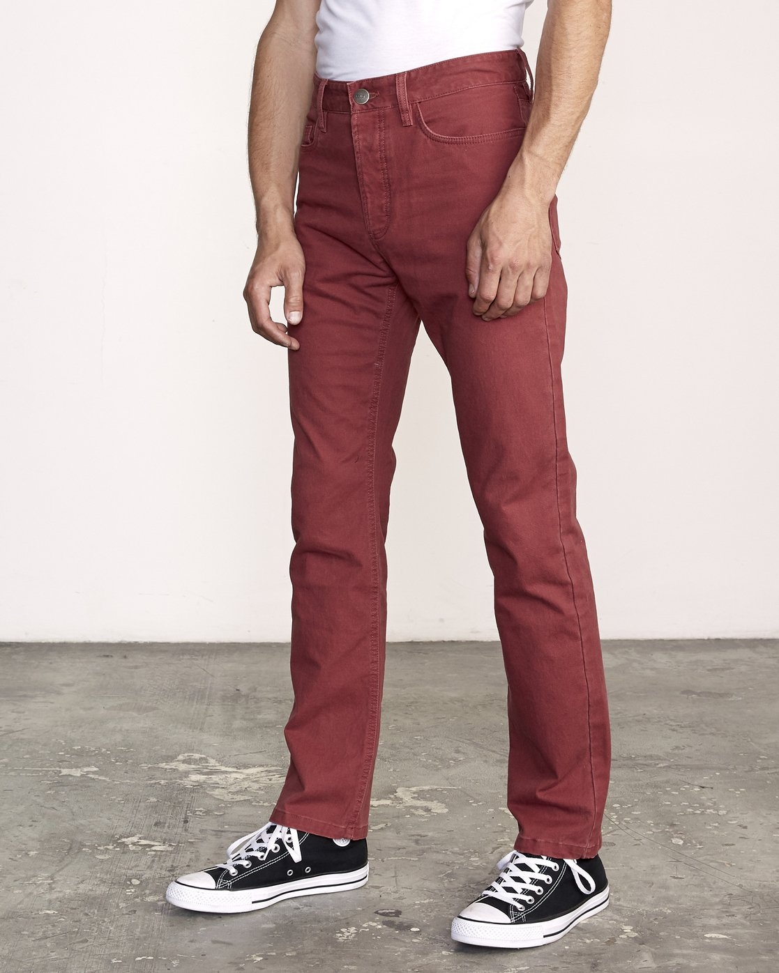3 week-end 5-Pocket straight fit Pant Red M310VRWP RVCA