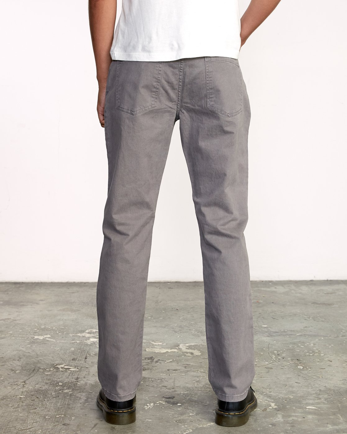 1 week-end 5-Pocket straight fit Pant Grey M310VRWP RVCA