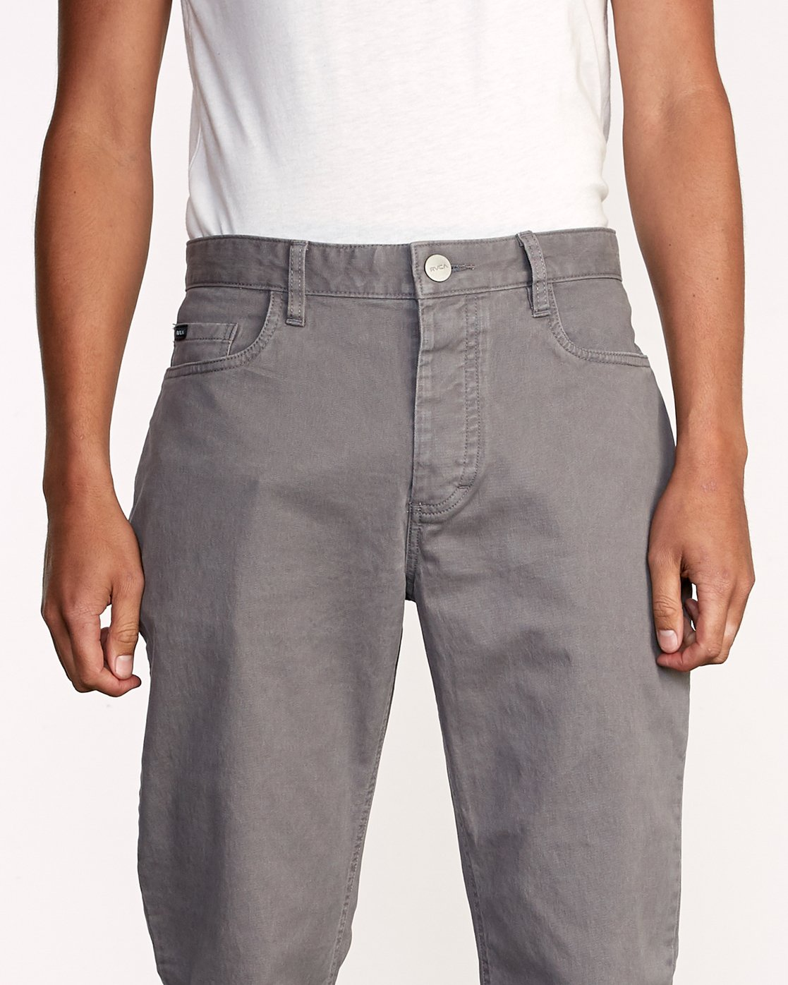 2 week-end 5-Pocket straight fit Pant Grey M310VRWP RVCA