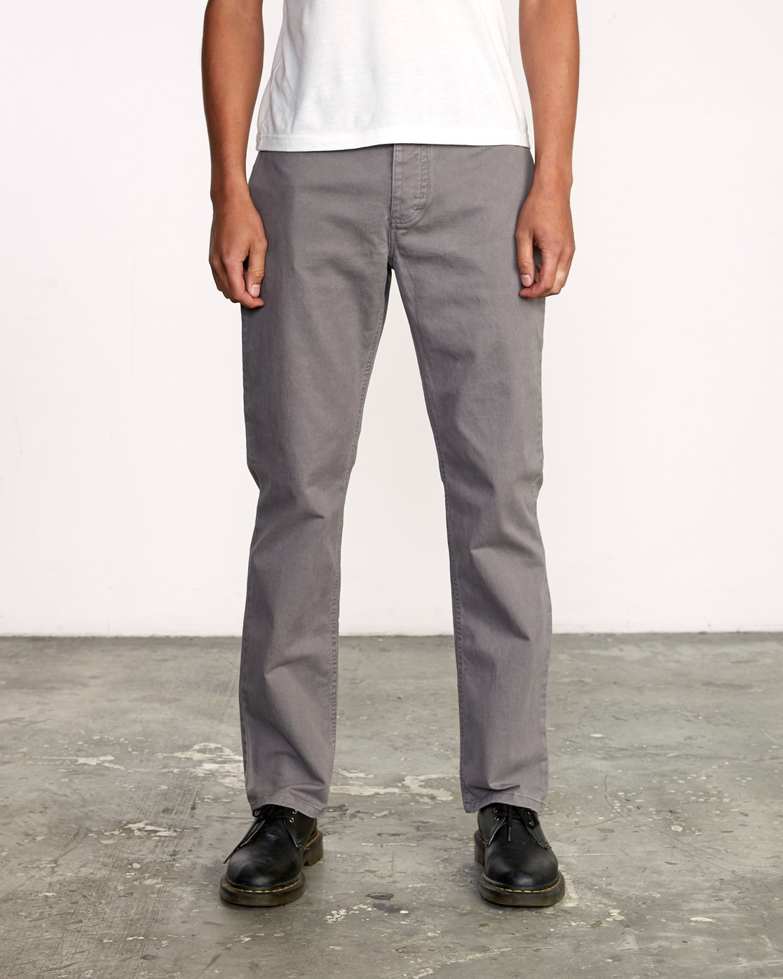 0 week-end 5-Pocket straight fit Pant Grey M310VRWP RVCA