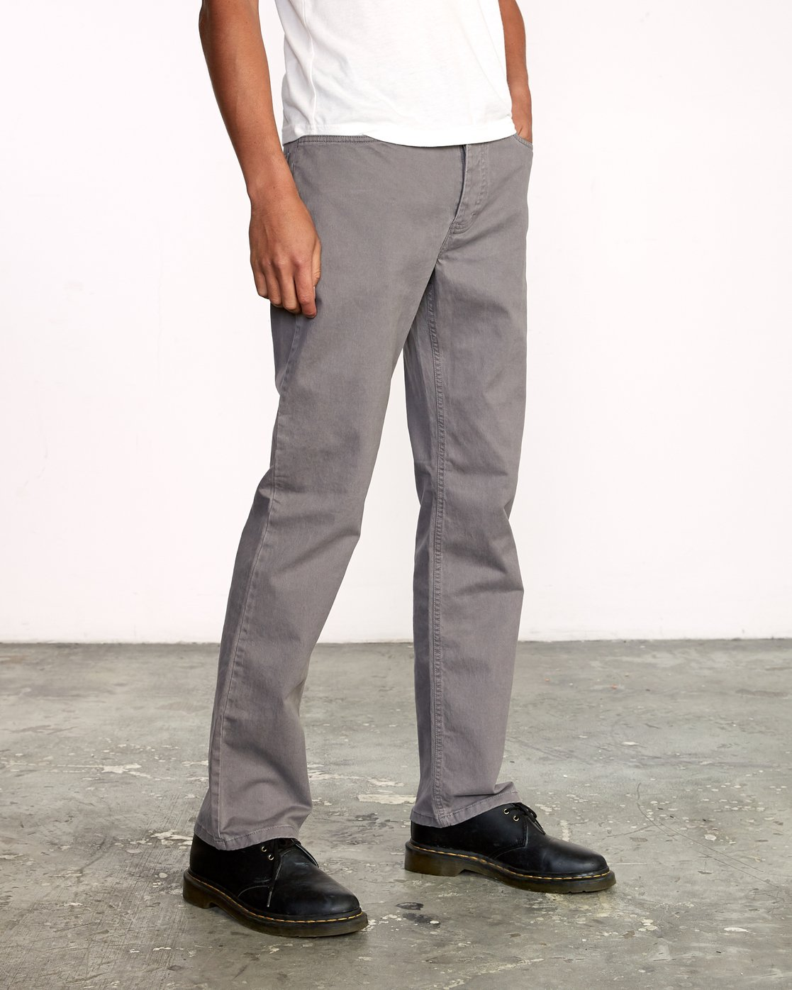 6 week-end 5-Pocket straight fit Pant Grey M310VRWP RVCA