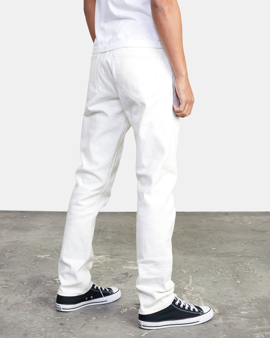 4 DAGGERS SLIM FIT DENIM White M3113RDA RVCA