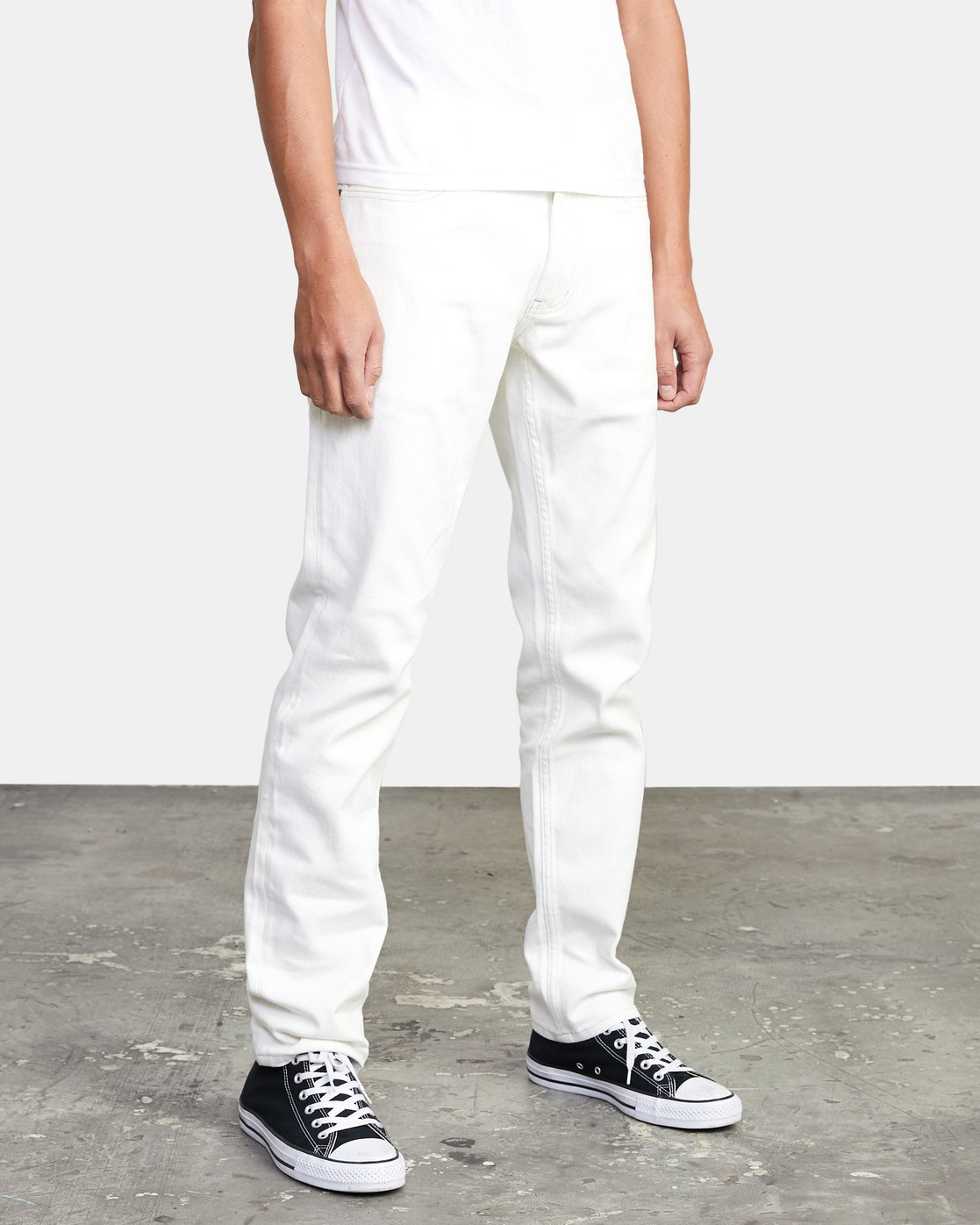5 DAGGERS SLIM FIT DENIM White M3113RDA RVCA