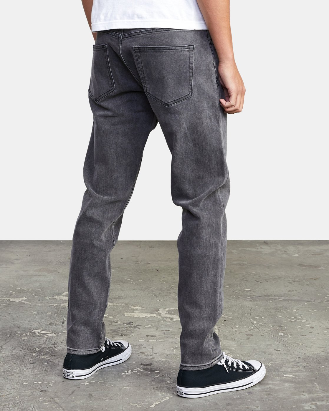 6 DAGGERS SLIM FIT DENIM Grey M3113RDA RVCA