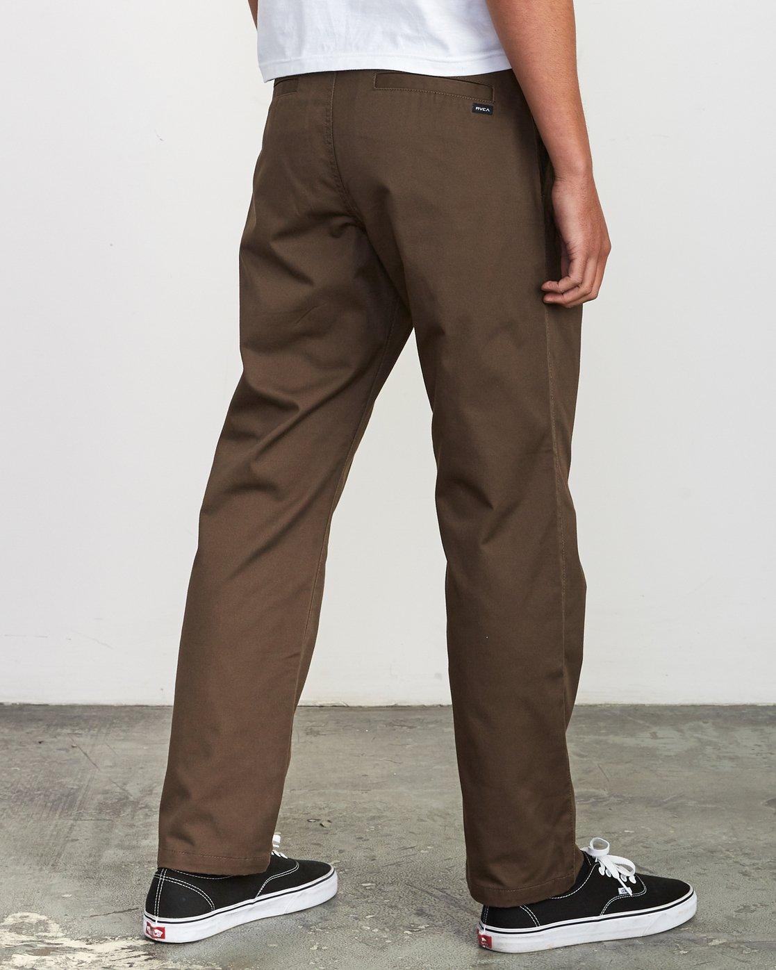 4 Americana Chino Pant Brown M311VRAC RVCA