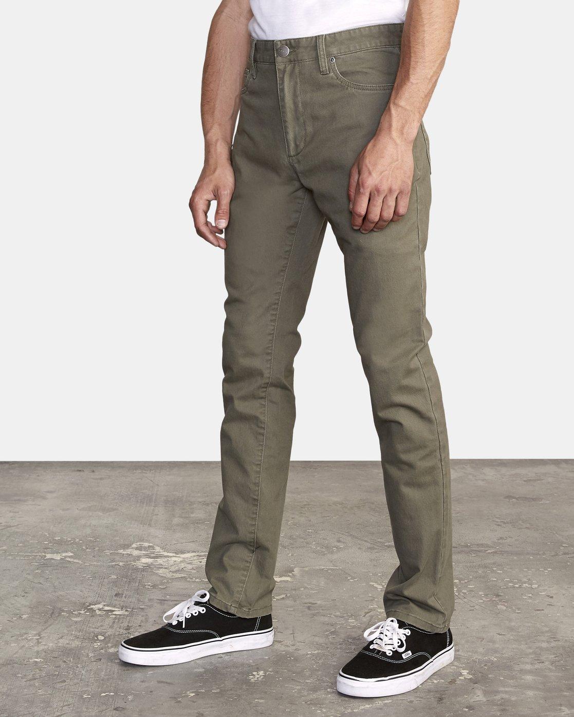3 Daggers Slim fit Twill Pant Green M313VRDT RVCA