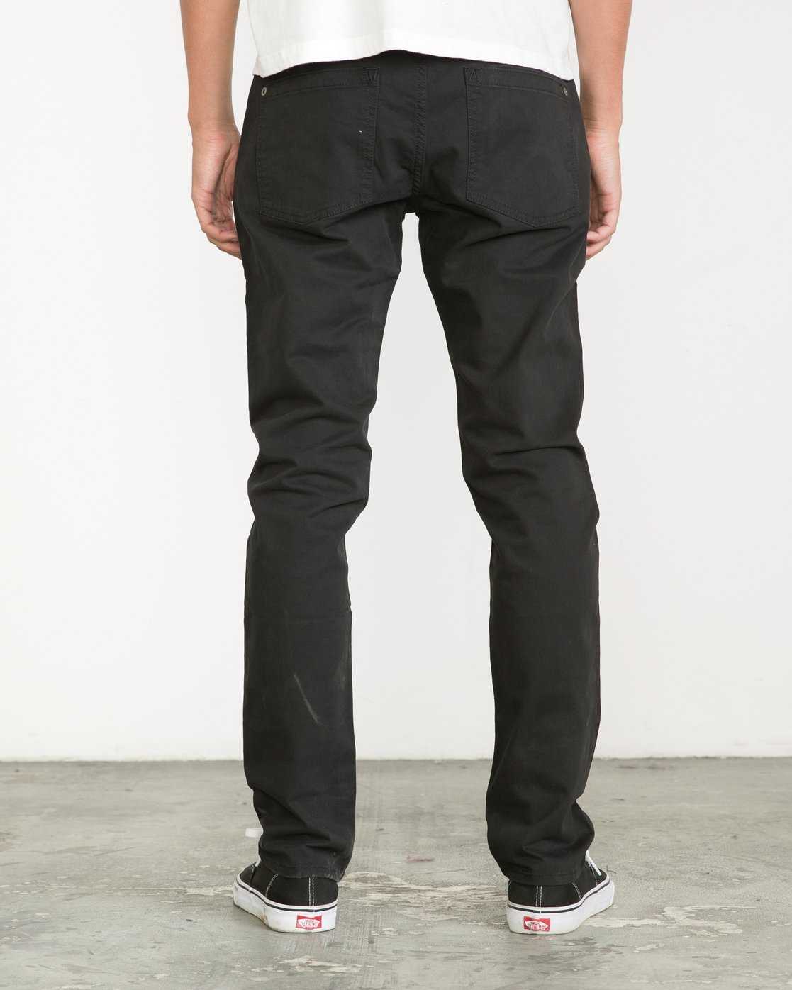 1 Daggers Slim-Straight Twill Pants Black M313VRDT RVCA