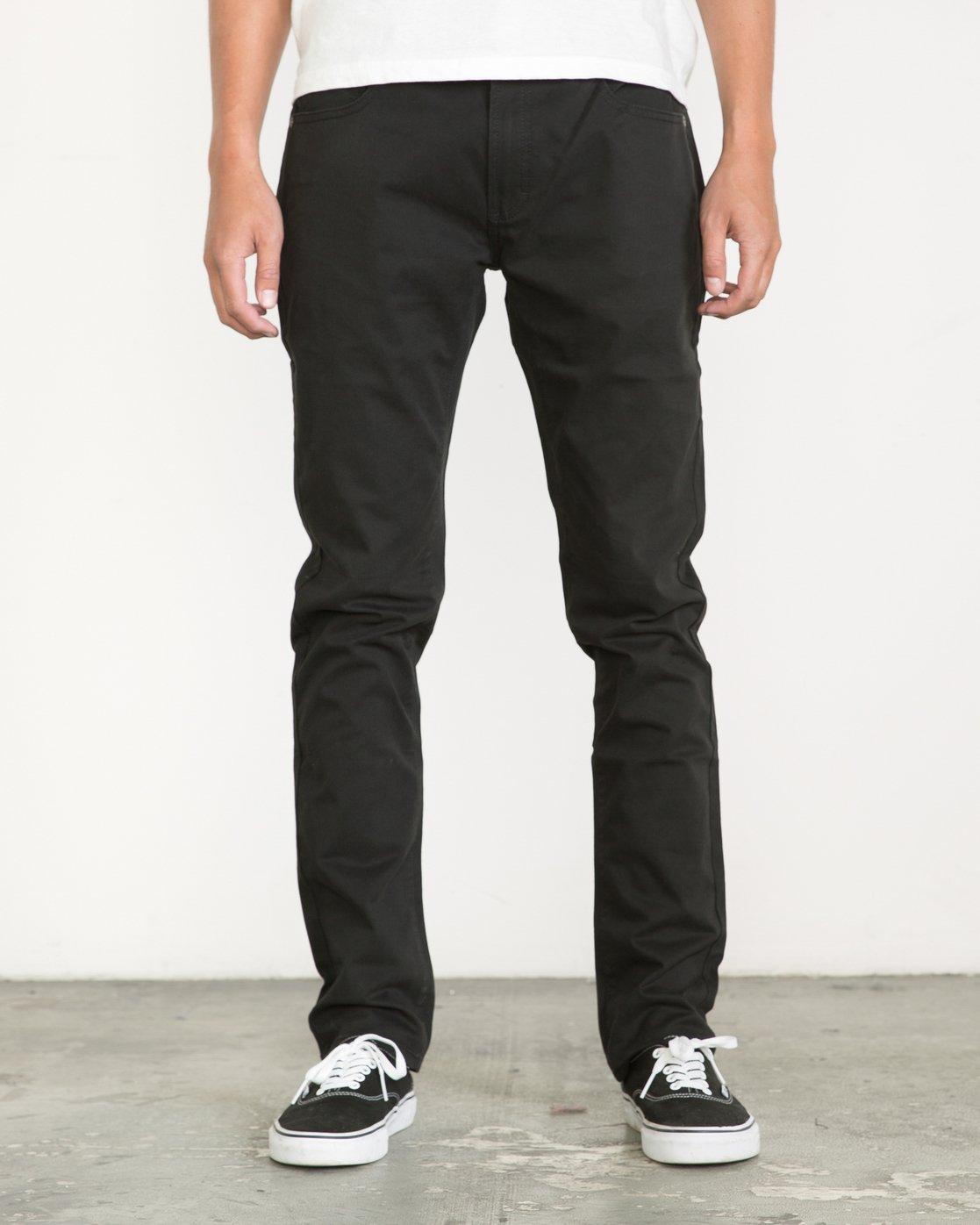 0 Daggers Slim fit Twill Pant Black M313VRDT RVCA