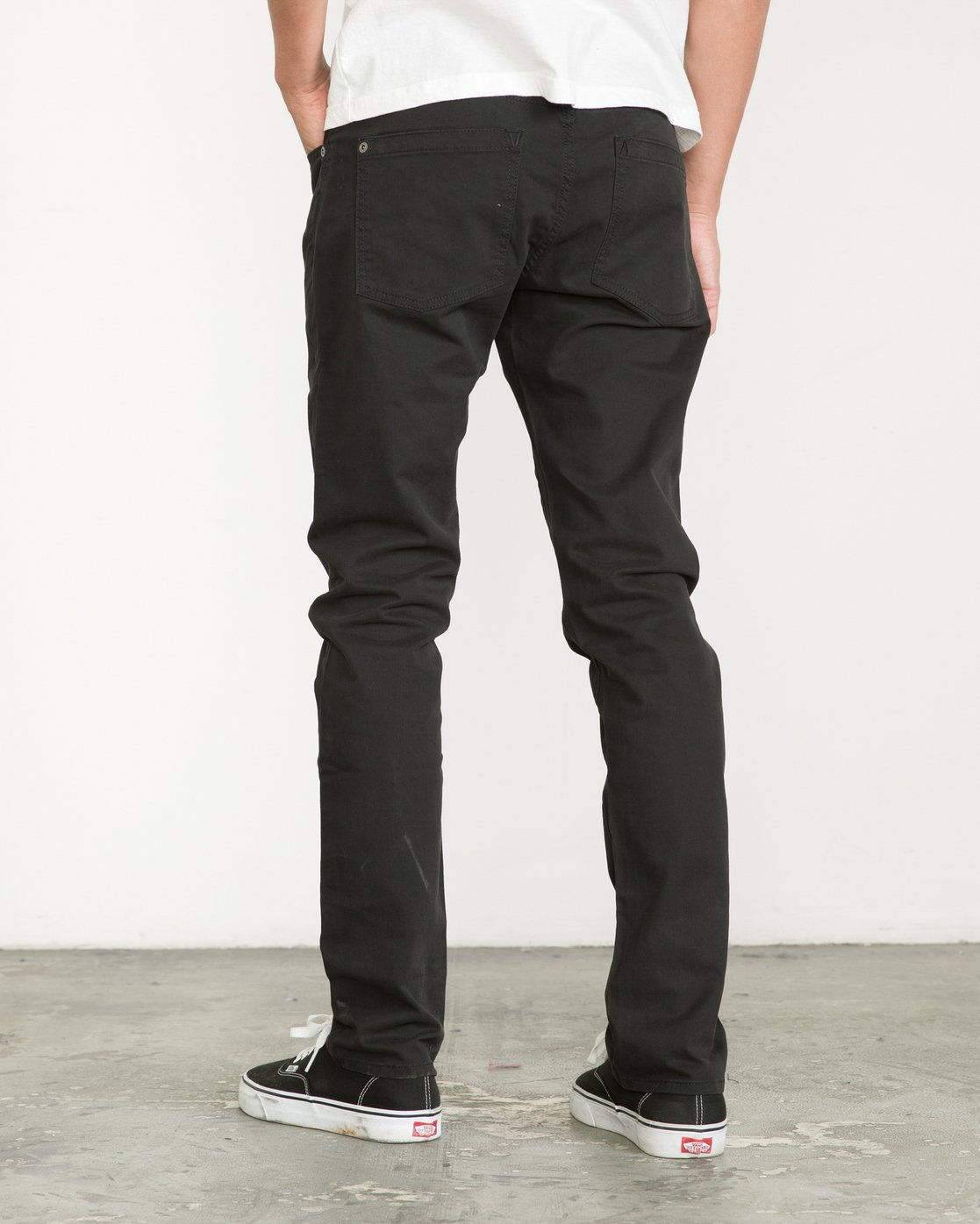 3 Daggers Slim-Straight Twill Pants Black M313VRDT RVCA