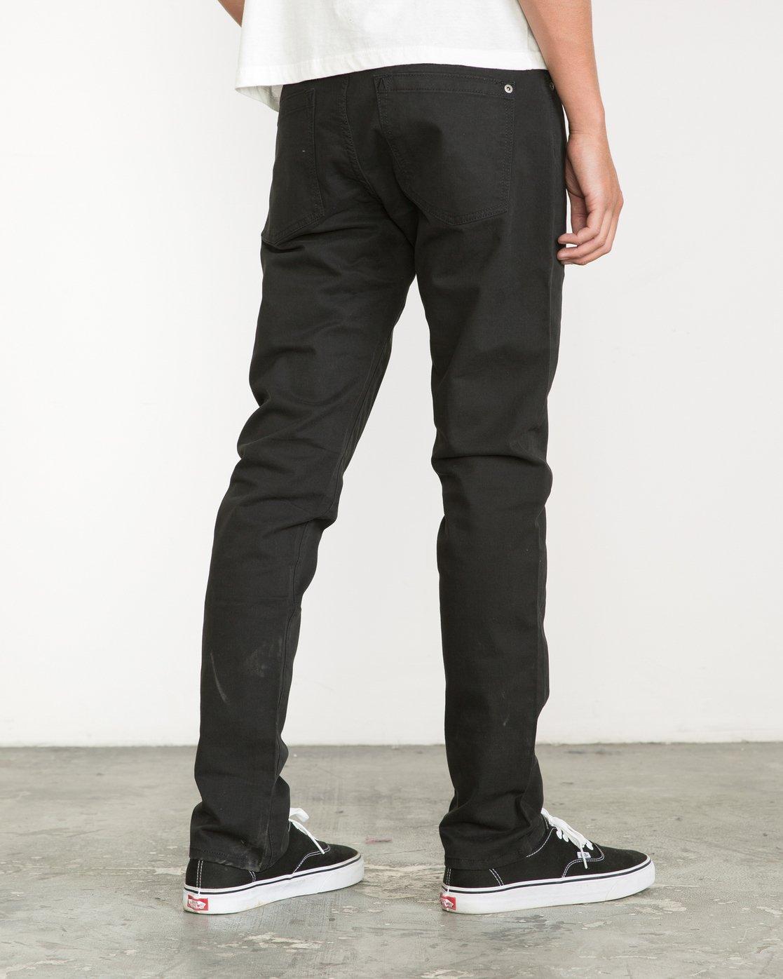 4 Daggers Slim fit Twill Pant Black M313VRDT RVCA