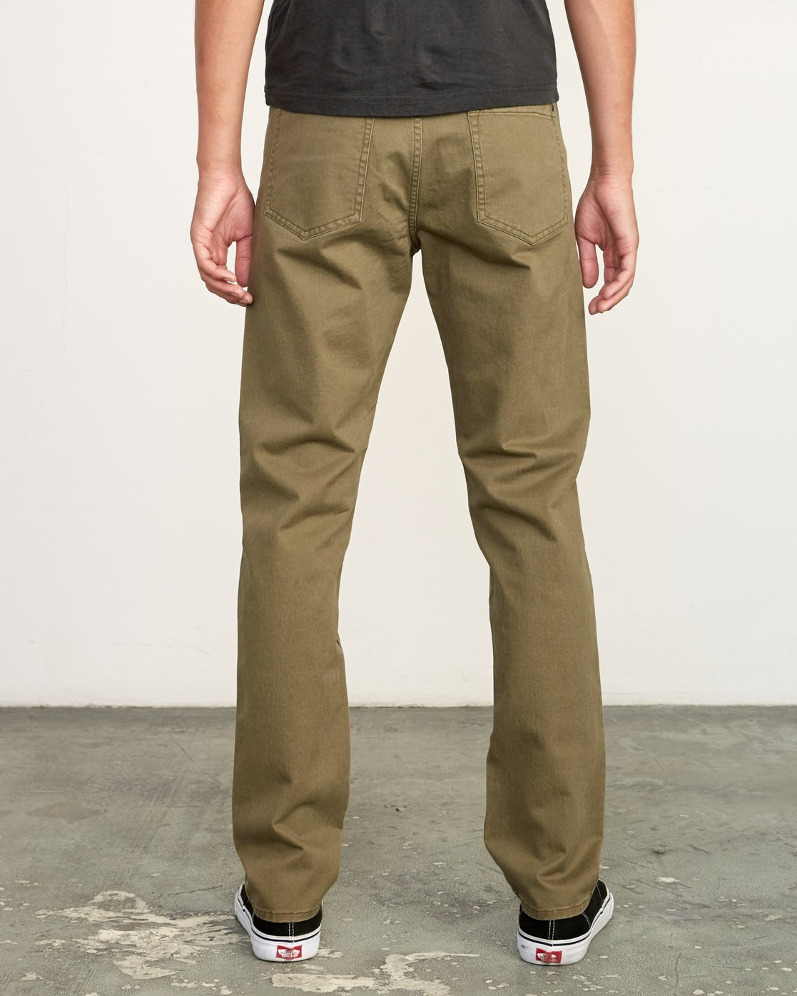 3 Daggers Slim-Straight Twill Pants Green M313VRDT RVCA