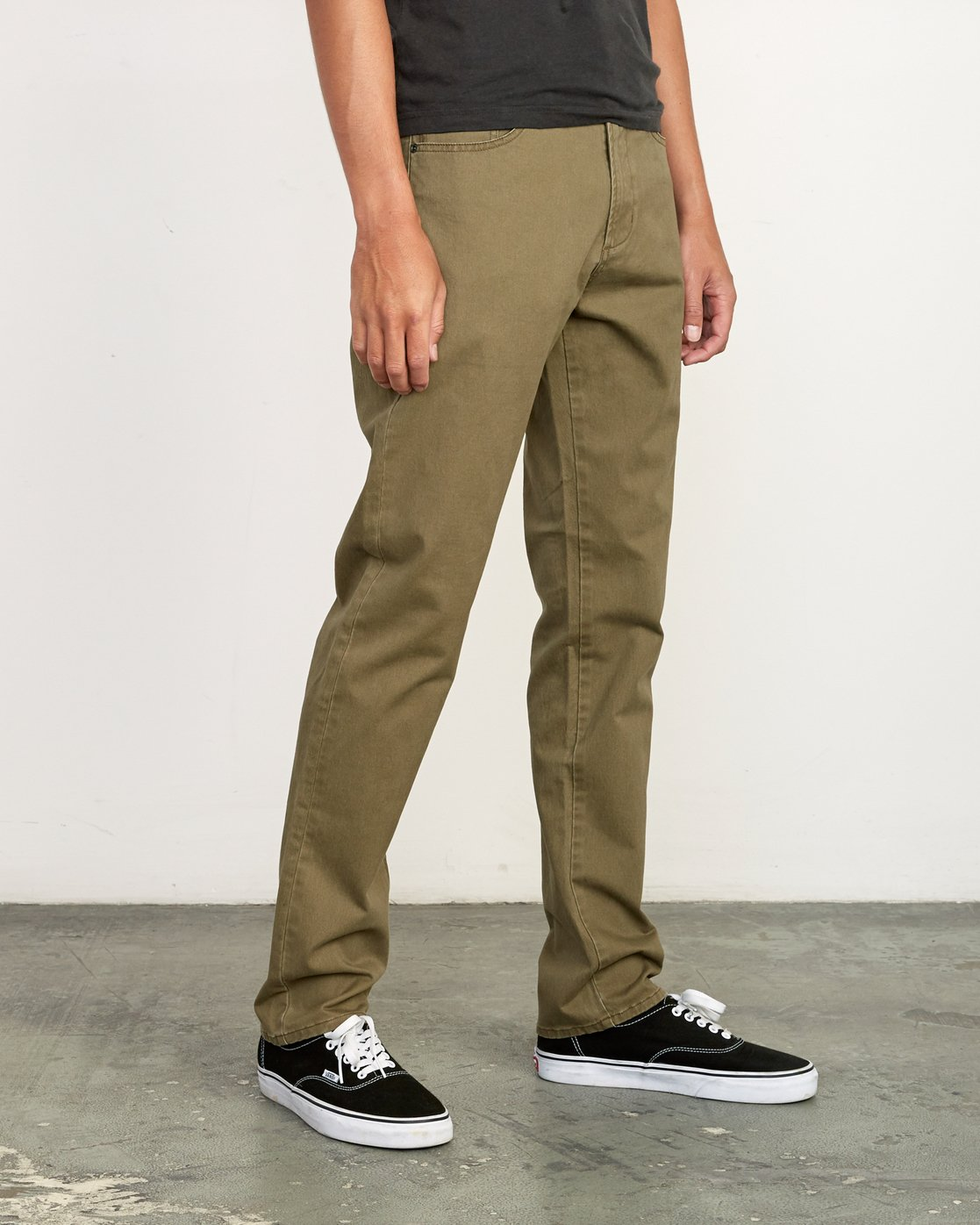 5 Daggers Slim-Straight Twill Pants Green M313VRDT RVCA