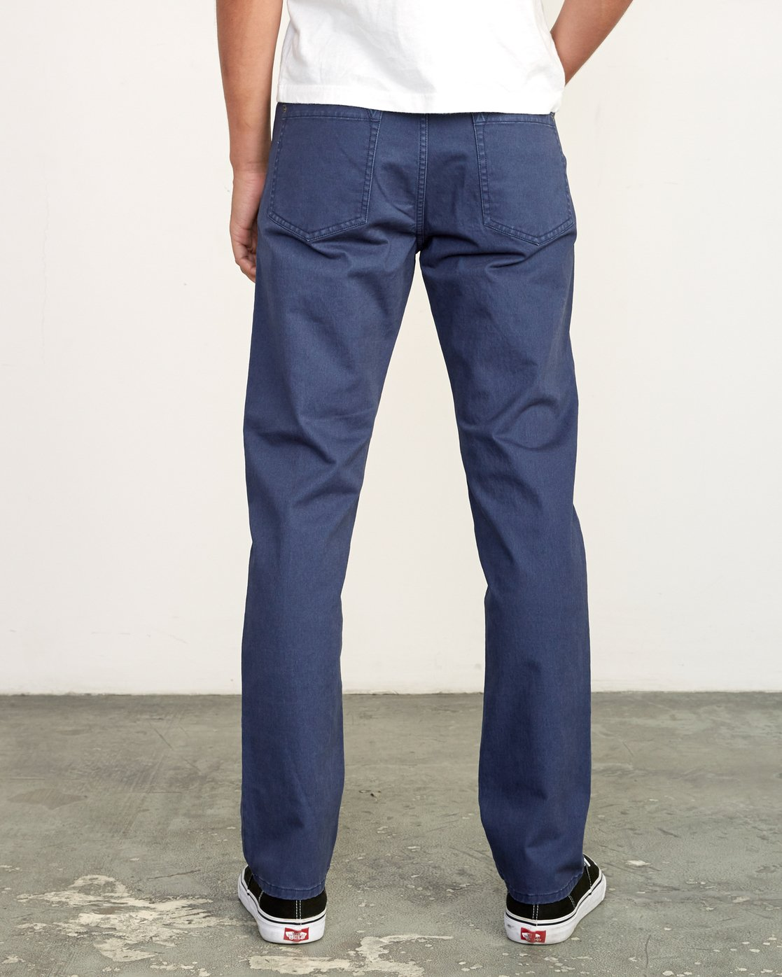 1 Daggers Slim-Straight Twill Pants Blue M313VRDT RVCA