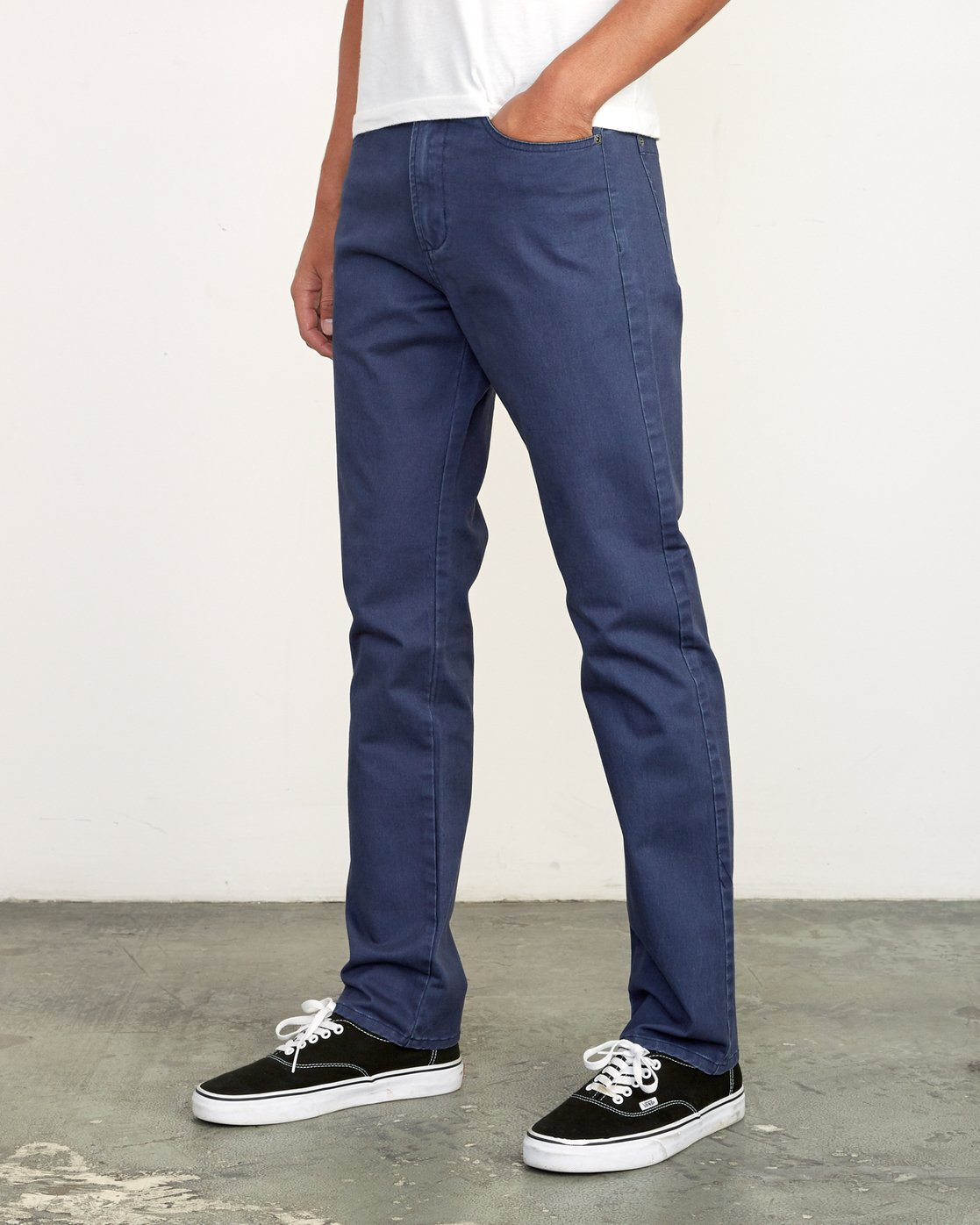 2 Daggers Slim-Straight Twill Pants Blue M313VRDT RVCA