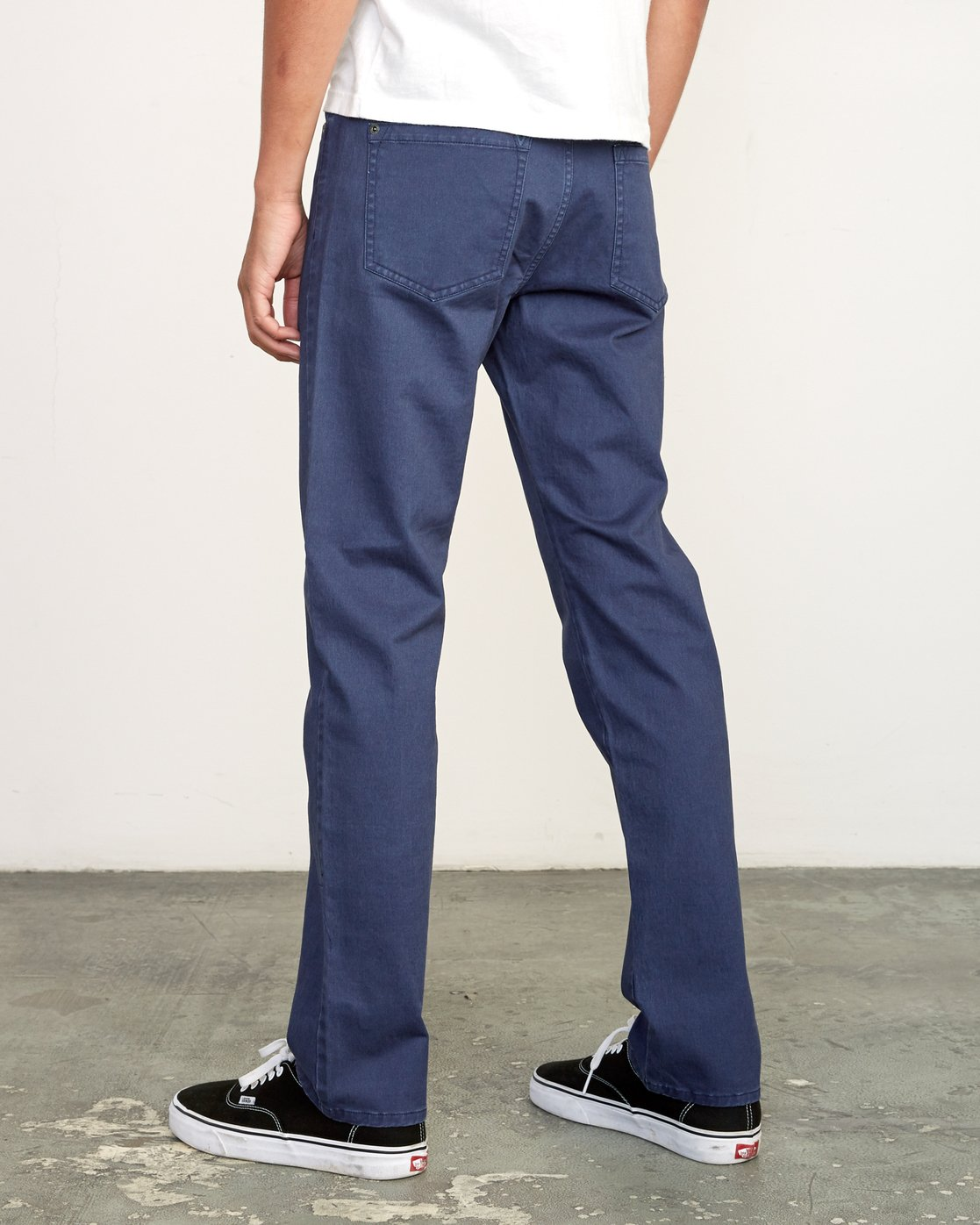3 Daggers Slim-Straight Twill Pants Blue M313VRDT RVCA