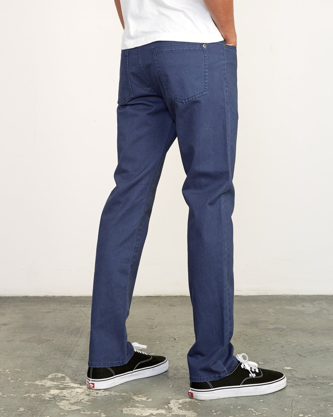 4 Daggers Slim-Straight Twill Pants Blue M313VRDT RVCA