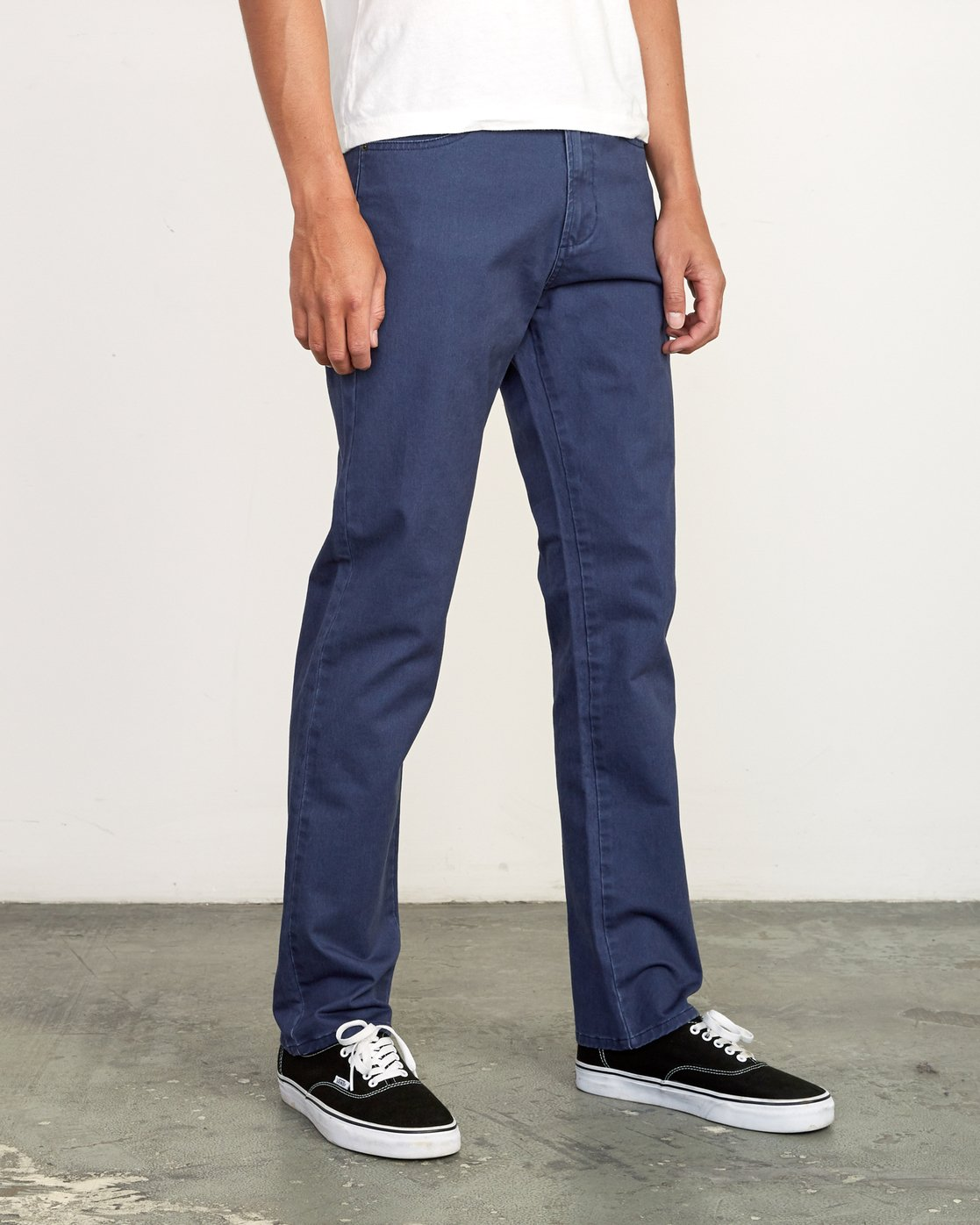 5 Daggers Slim-Straight Twill Pants Blue M313VRDT RVCA