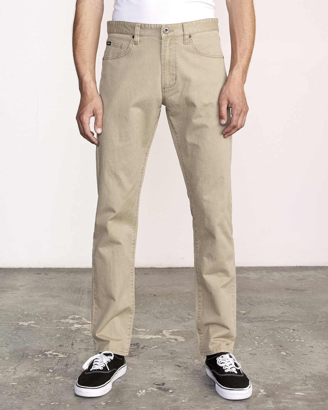 0 Daggers Slim-Straight Twill Pants White M313VRDT RVCA