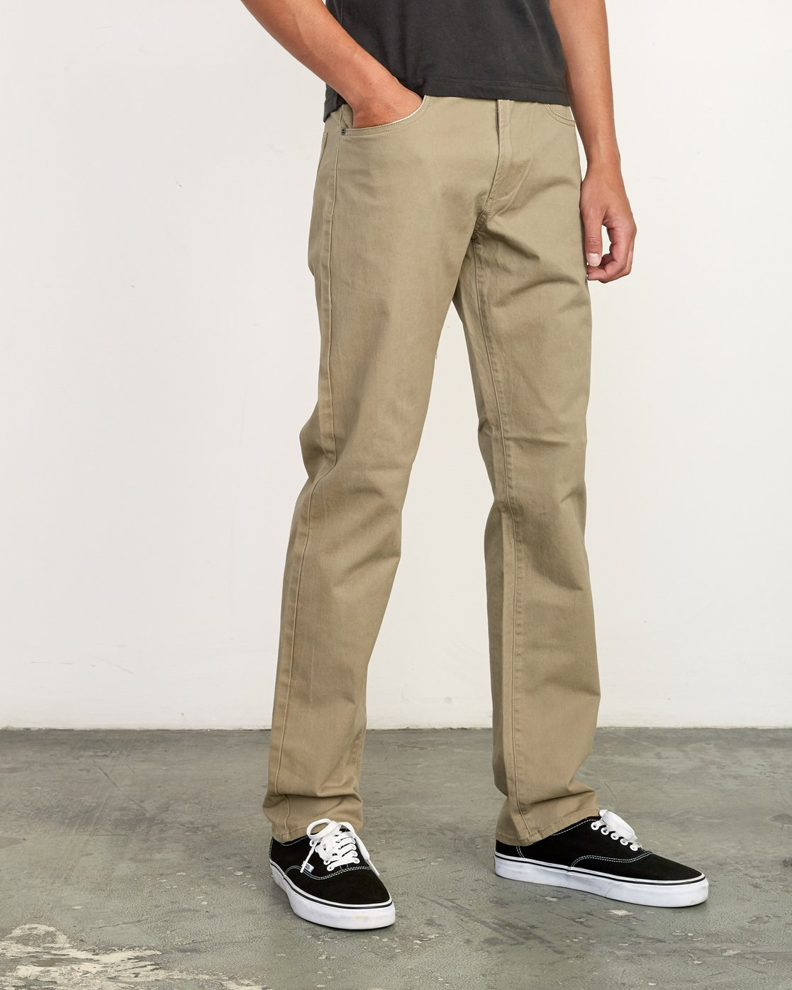 6 Daggers Slim-Straight Twill Pants White M313VRDT RVCA