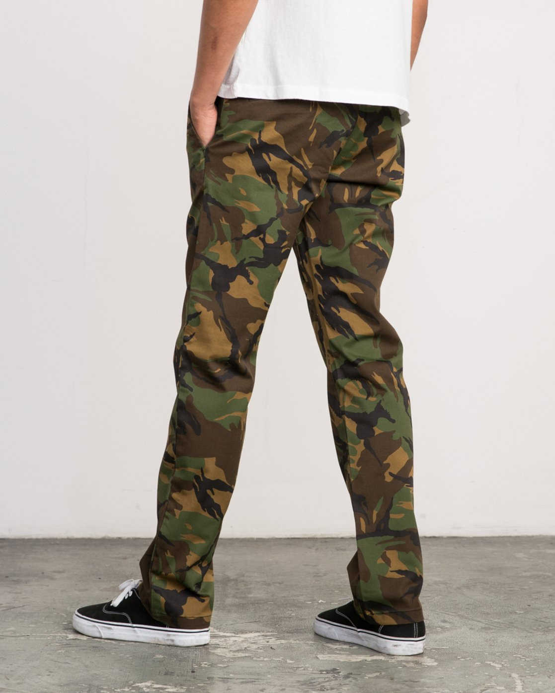 4 week-end Stretch straight fit Pant Brown M314VRWS RVCA
