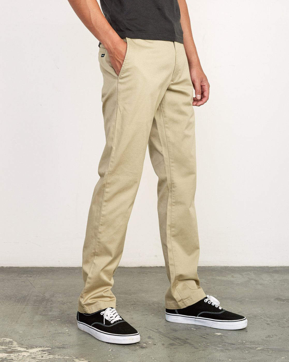 5 week-end Stretch straight fit Pant Beige M314VRWS RVCA