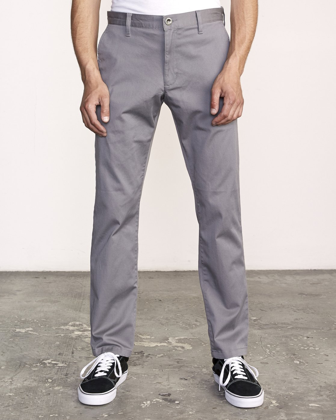 0 week-end Stretch straight fit Pant Grey M314VRWS RVCA
