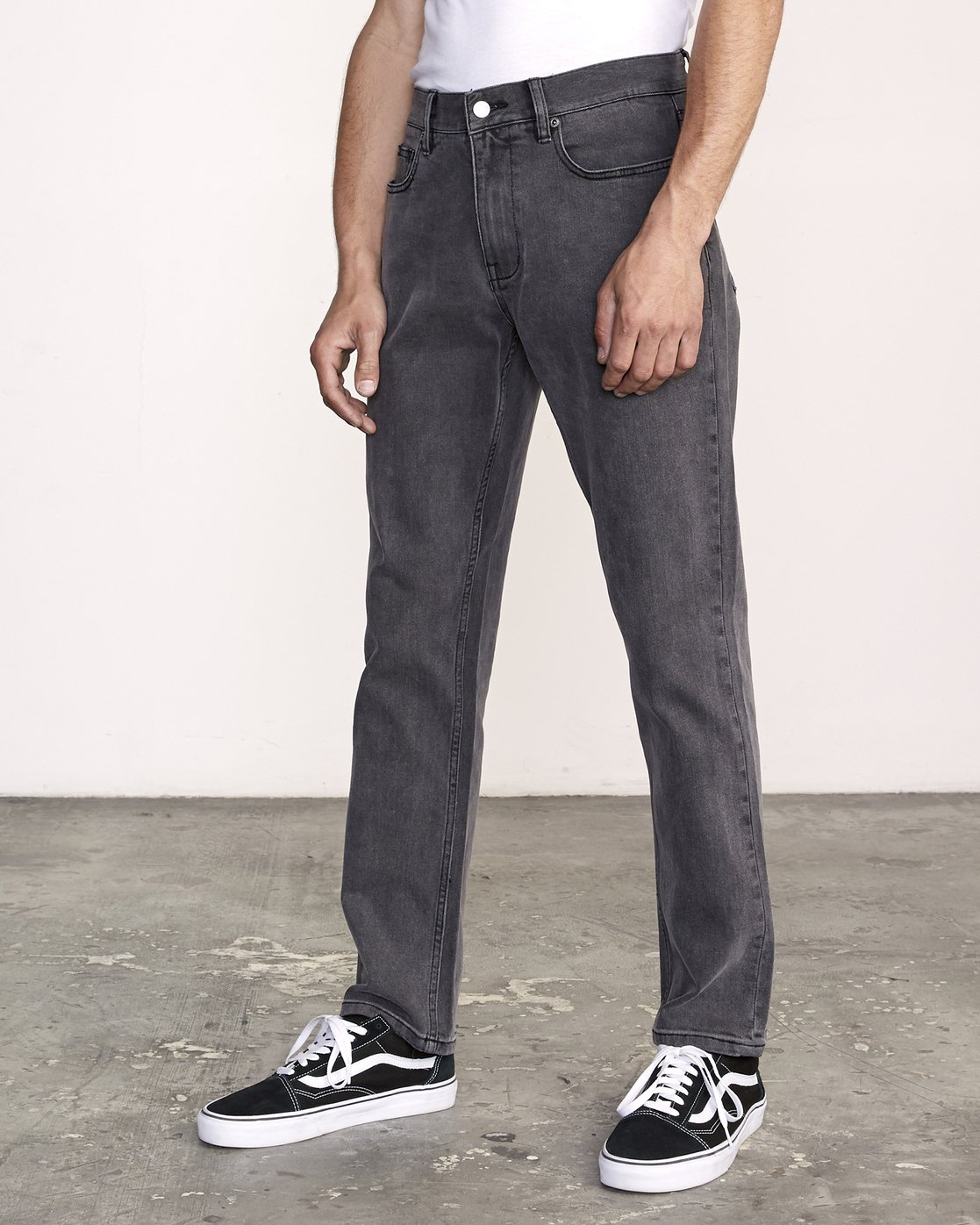 2 Weekend Straight Fit Jeans Grey M323VRWK RVCA
