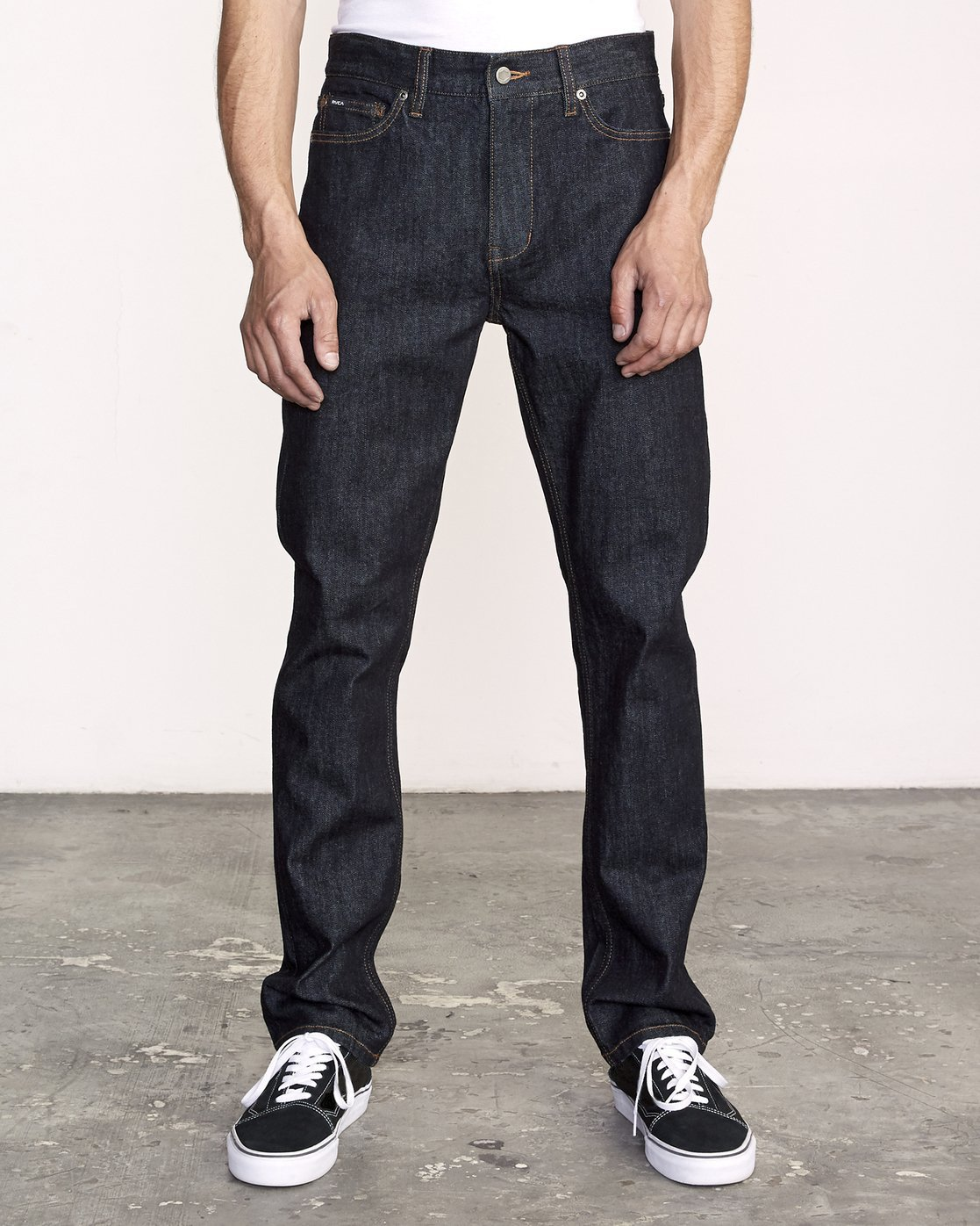 0 Daggers Slim Fit Denim Blue M327VRDA RVCA