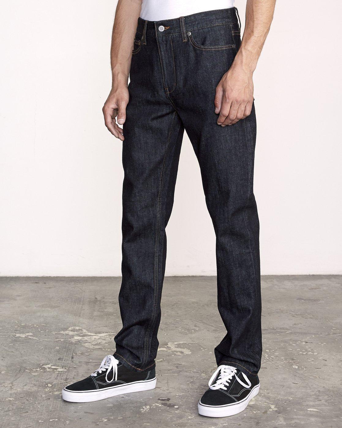 1 Daggers Slim-Straight Jeans Blue M327VRDA RVCA